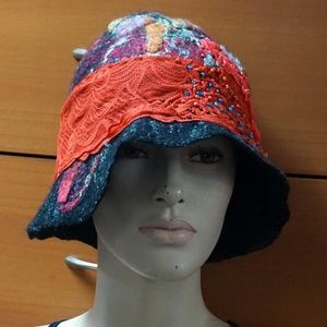 FELTED WOOL CLOCHE HAT UNIQUE GIFT FOR WOMEN